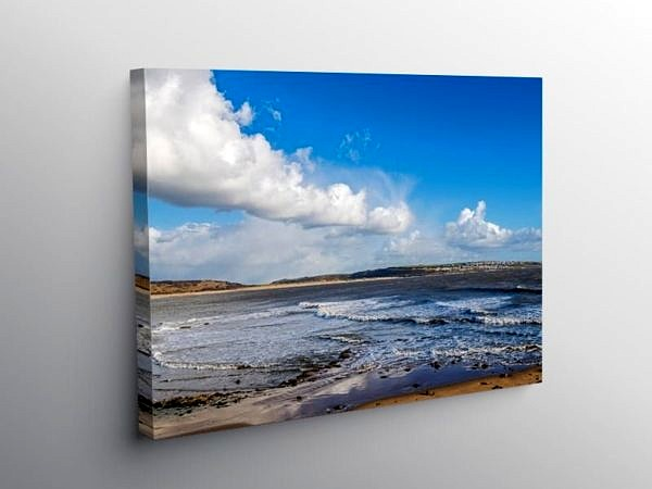 Newton Beach Porthcawl South Wales on Canvas