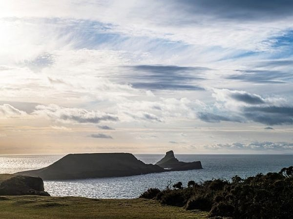 Worms Head on a Winter Evening Gower Wales