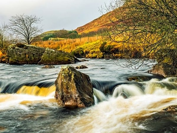 The Claerwen River Mid Wales