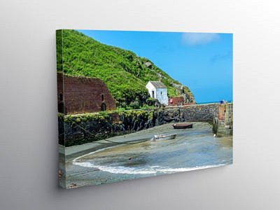 Porthgain Harbour North Pembrokeshire West Wales on Canvas