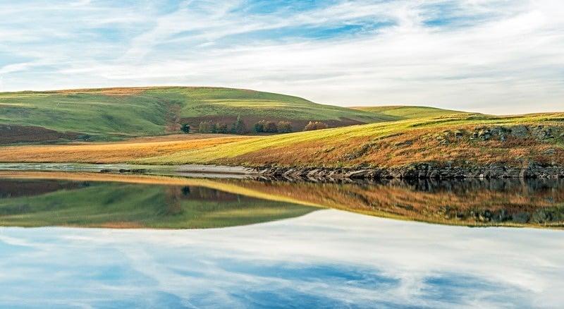 Reflections from Craig Goch Reservoir