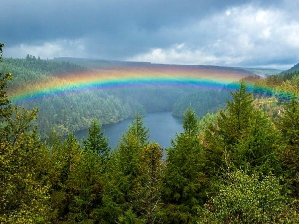 Rainbow over the Llyn Brianne Reservoir