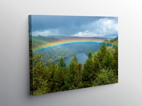 Rainbow over the Llyn Brianne Reservoir on Canva