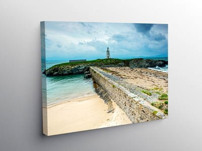 Little Lighthouse Llanddwyn Island Anglesey on Canvas