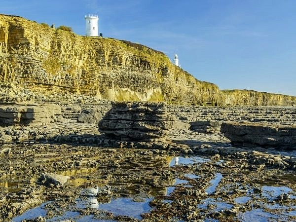 The Two Lighthouses Nash Point Glamorgan Heritage Coast