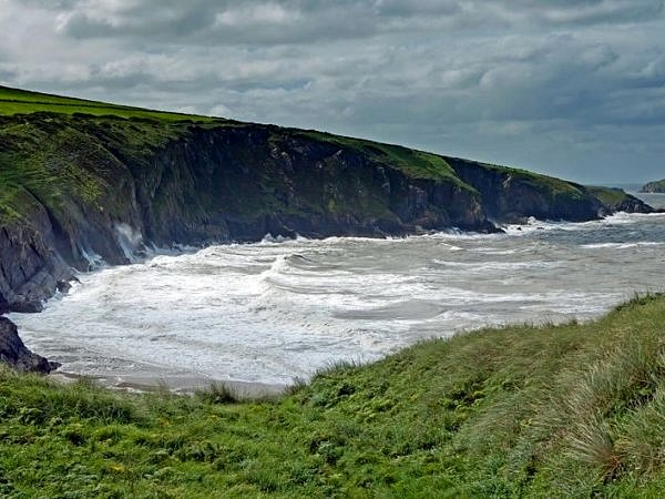 Mwnt Bay on the Ceredigion Coast, West Wales