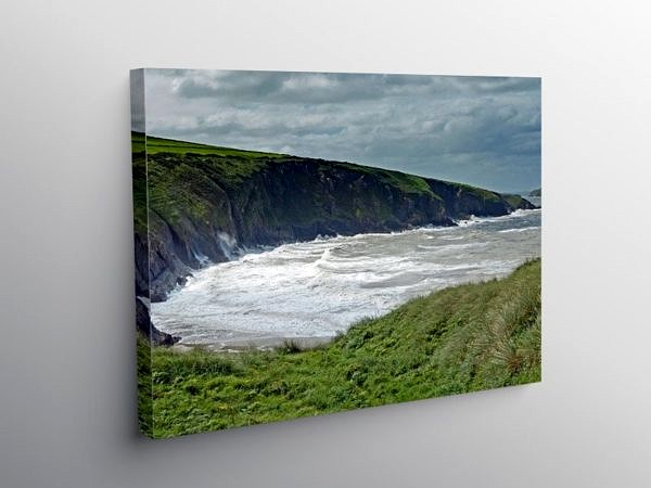 Mwnt Bay Ceredigion Coast West Wales, Canvas Print