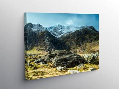 Y Garn from near Llyn Idwal, Snowdonia, North Wales on Canvas