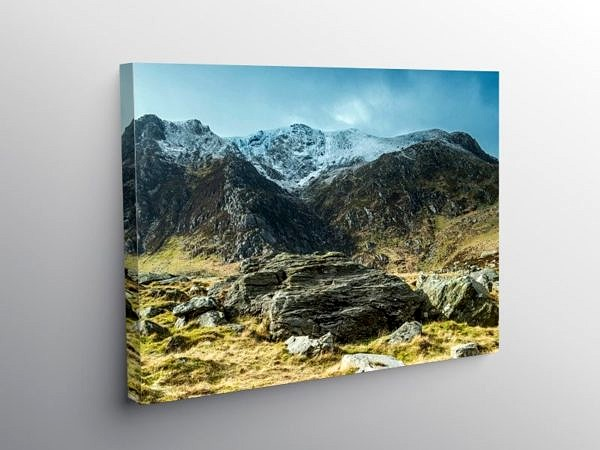 Y Garn from near Llyn Idwal, Snowdonia, North Wales on Canvas
