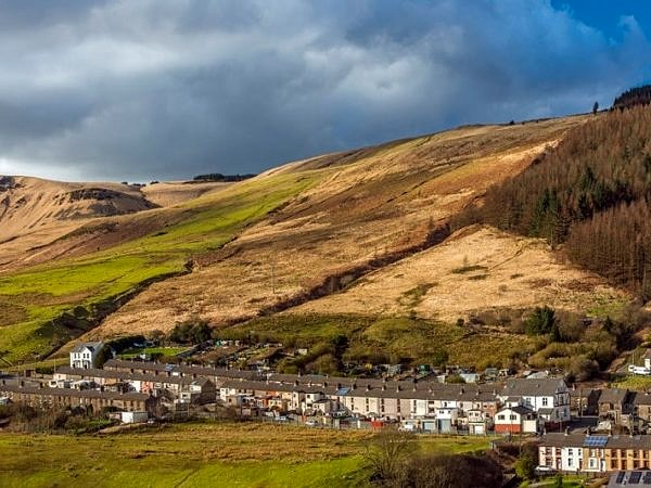 Cwmparc Village in the Rhondda South Wales