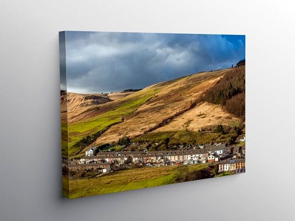 Cwmparc Village in the Rhondda South Wales on Canvas