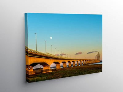 Second Severn Crossing on a winter evening on Canvas