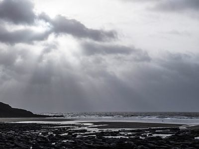 Dunraven Bay Winter Afternoon
