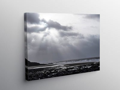 Dunraven Bay Winter Afternoon on Canvas