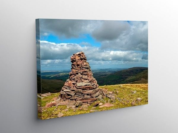 View North from Fan Nedd Western Brecon Beacons, Canvas Print