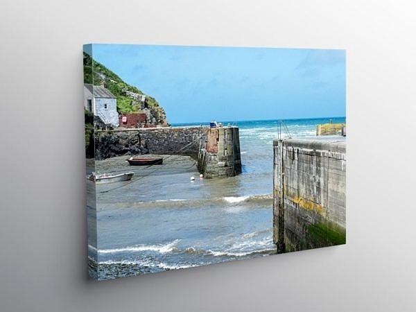 Porthgain Harbour Pembrokeshire West Wales on Canvas