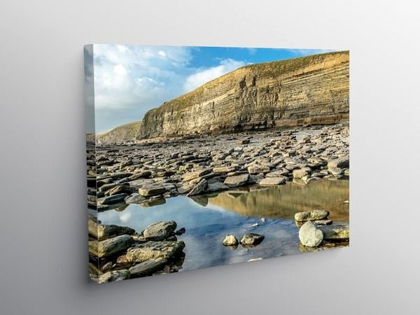 Dunraven Bay on the Glamorgan Heritage Coast on Canvas