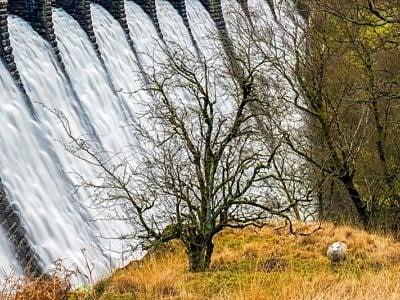Craig Goch Dam Elan Valley Close Up Mid Wales