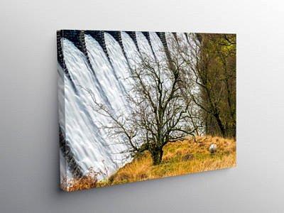 Craig Goch Dam Elan Valley Close Up Mid Wales on Canvas