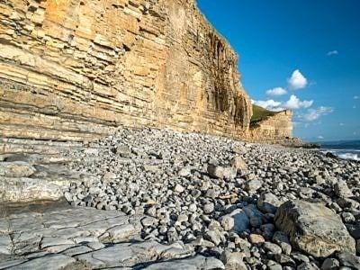 The Glamorgan Heritage Coast at Cwm Nash in South Wales