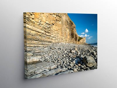 The Glamorgan Heritage Coast at Cwm Nash in South Wales on Canvas