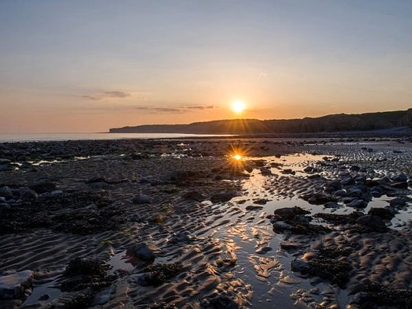 Sunset on Llantwit Major Beach