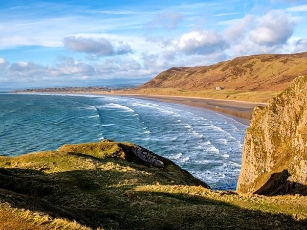 Rhossili Bay on the Gower Peninsula South Wales