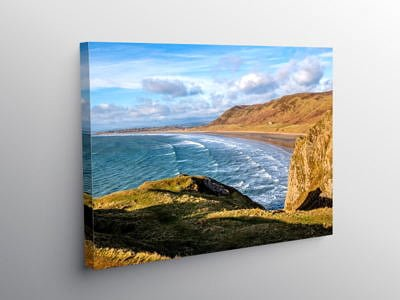 Rhossili Bay on the Gower Peninsula South Wales on Canvas