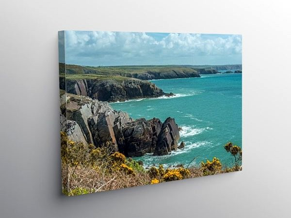 Pembrokeshire Coast at Porthclais on Canvas