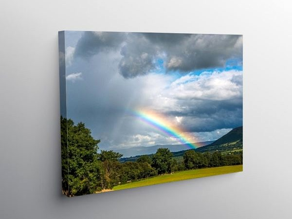 Rainbow over Libanus Brecon Beacons, Canvas Print