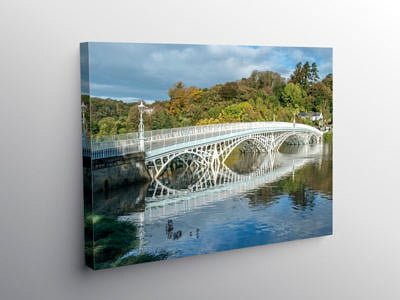 Old Iron Bridge Chepstow from Monmouthshire, Canvas Print
