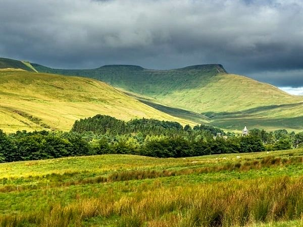 Pen y Fan and Corn Du in the Brecon Beacons