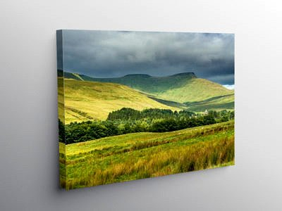 Pen y Fan and Corn Du in the Brecon Beacons on Canvas