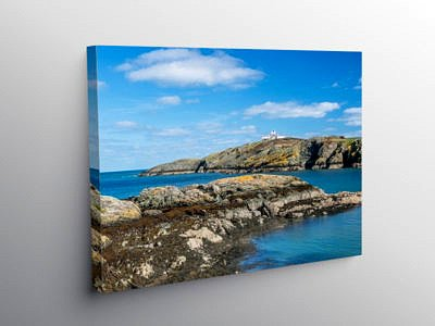 Porth Eilian Cove Anglesey on Canvas