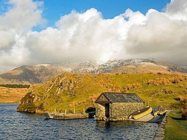 The Boathouse on Llyn y Dwyarchen Lake Snowdonia National Park