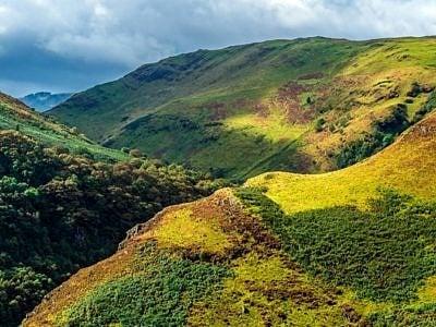 The Upper Tywi Valley below Llyn Brianne Reservoir Mid Wales