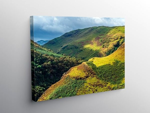 The Upper Tywi Valley below Llyn Brianne Reservoir Mid Wales on Canvas