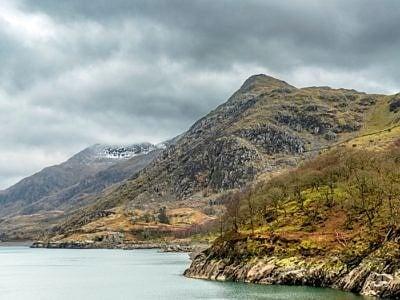 Clogwyn Mawr from Llyn Peris, Llanberis, Snowdonia