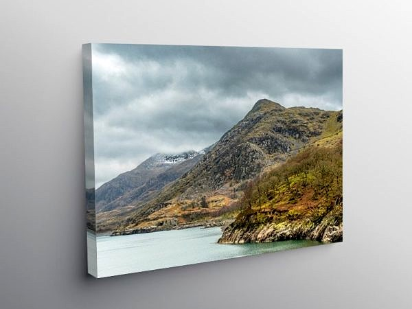 Clogwyn Mawr from Llyn Peris, Llanberis, Snowdonia on Canvas