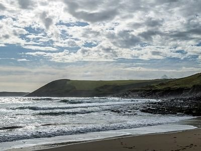 Manorbier Beach on the South Pembrokeshire Coast