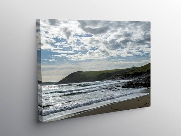 Manorbier Beach on the South Pembrokeshire Coast on Canvas