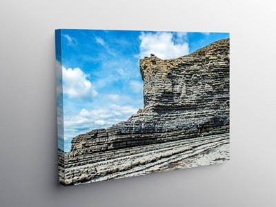 The Cliffs of the Glamorgan Coast at Cwm Nash south Wales on Canvas