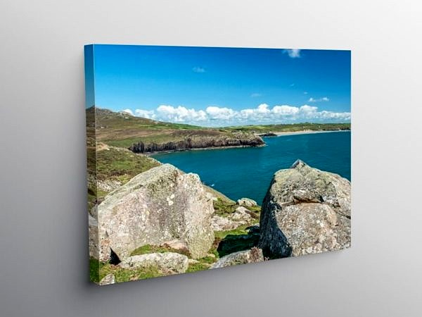 Whitesands Bay from St David's Head Pembrokeshire on Canvas