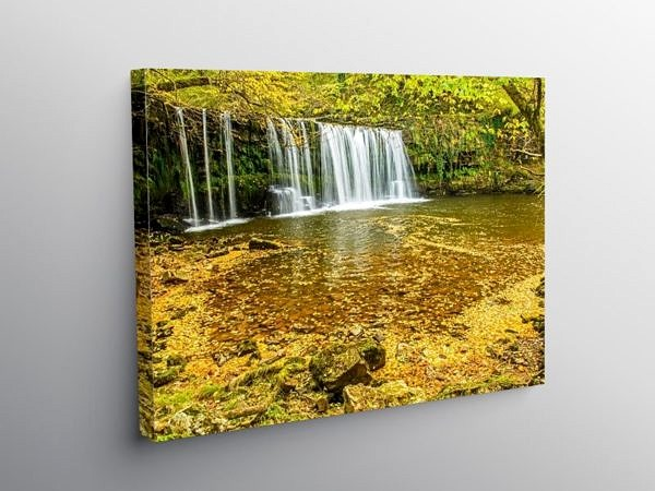 Upper Ddwli Falls in Autumn on Canvas