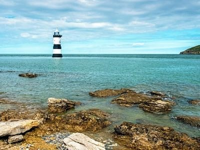 Penmon Lighthouse off Anglesey, Gwynedd