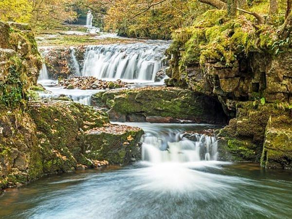 The Horseshoe Falls Vale of Neath in Autumn