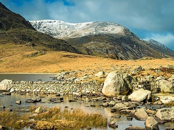 Llyn Idwal and Y Garn in the Snowdonia National Park North Wales