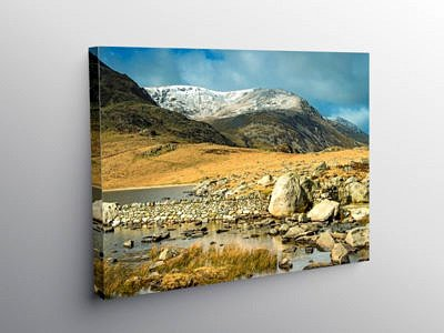 Llyn Idwal and Y Garn in the Snowdonia National Park North Wales on Canvas