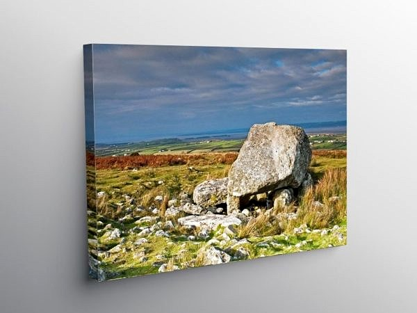 Arthur's Stone burial chamber on the Gower peninsula, Canvas Print
