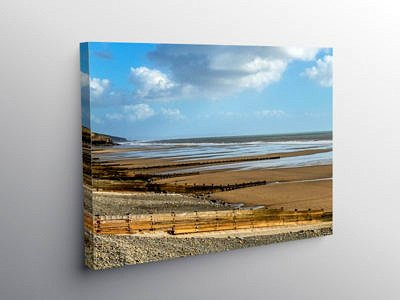 Amroth Beach South Pembrokeshire on Canvas